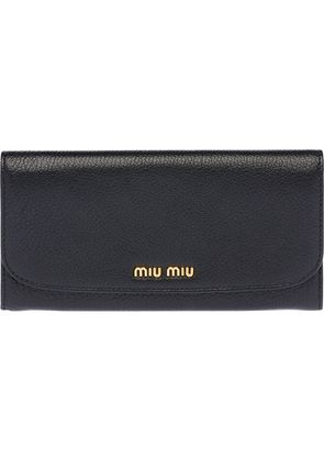 Miu Miu long continental wallet - Black