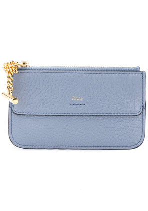 Chloé logo zipped wallet - Blue