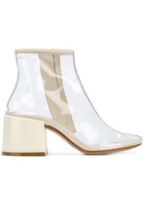 Mm6 Maison Margiela flared-heel ankle boots - Nude & Neutrals