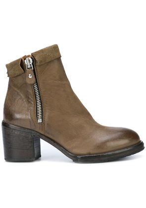 Moma mid heel ankle boots - Green