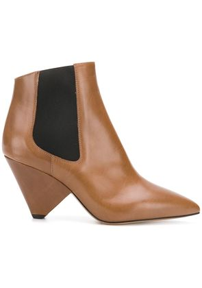 Isabel Marant graphic heel ankle boots - Brown