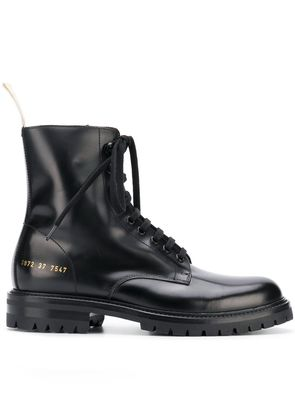 Common Projects lace-up military style boots - Black