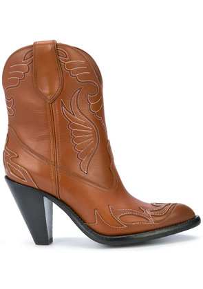 Givenchy Western-style ankle boots - Brown