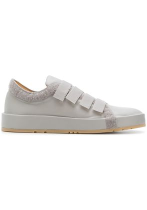 Jil Sander touch strap low top sneakers - Grey