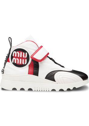 Miu Miu touch-strap hi-top sneakers - White