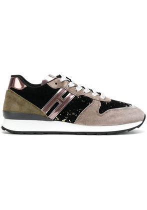 Hogan contrast panel sneakers - Multicolour