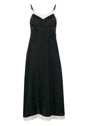 McQ Alexander McQueen lace slip dress - Black