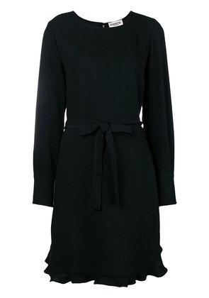 Essentiel Antwerp belted long-sleeve dress - Black