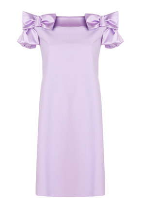 Chiara Boni La Petite Robe bow embellished flared dress - Pink &