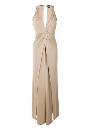 Just Cavalli wrap style maxi dress - Nude & Neutrals