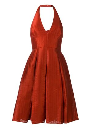 Halston Heritage backless halter dress - Red