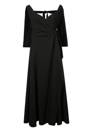 Rosie Assoulin side tie maxi dress - Black