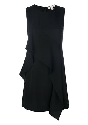 Dvf Diane Von Furstenberg sleeveless ruffle front dress - Black