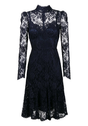 Dolce & Gabbana high neck lace midi dress - Blue