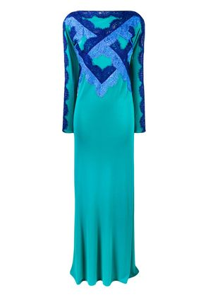Emilio Pucci lace-embellished gown - Green