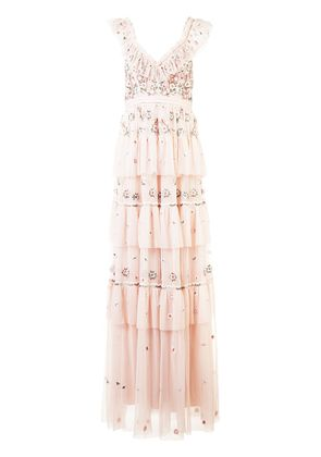 Needle & Thread Whimsical gown - Pink & Purple