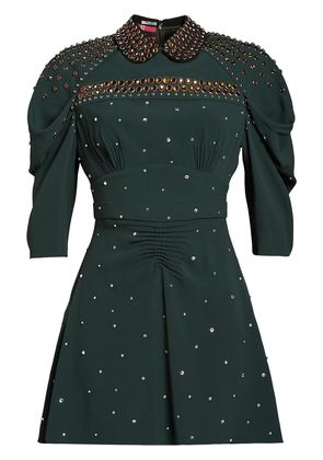 Miu Miu studded Sablé dress - Green