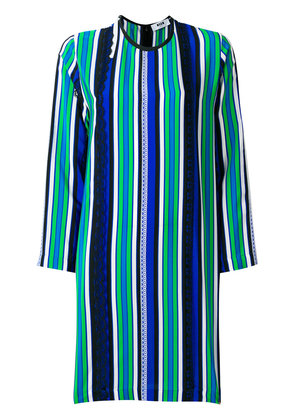 MSGM striped panel dress - Multicolour