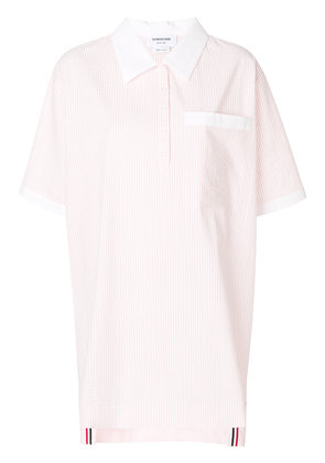 Thom Browne seersucker mini-shirt dress - Pink & Purple