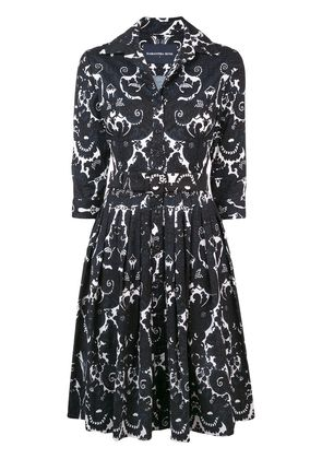 Samantha Sung printed design flared dress - Black