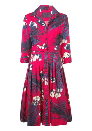 Samantha Sung floral printed dress - Pink & Purple