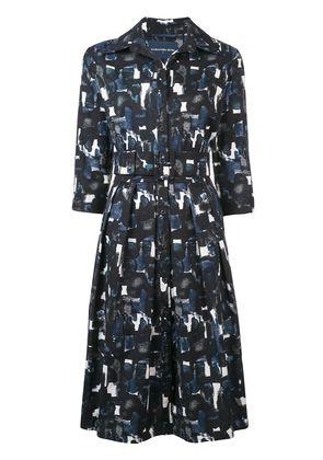 Samantha Sung printed flared dress - Blue