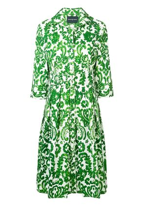 Samantha Sung printed flared summer dress - Green