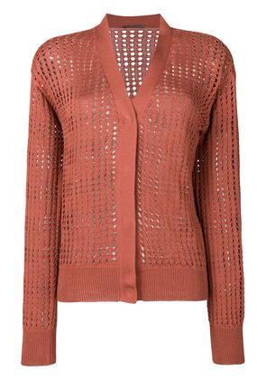 Bottega Veneta v-neck cardigan - Pink & Purple