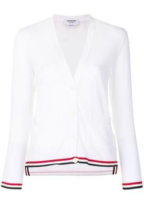 Thom Browne stripe detail cardigan - White