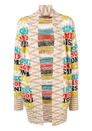Missoni open front knit cardigan - Nude & Neutrals