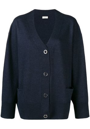 Toteme press stud cardigan - Blue