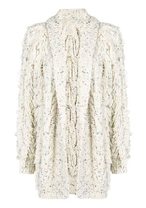 Ulla Johnson fringed cardigan - Nude & Neutrals