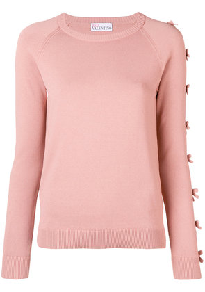 Red Valentino bow-detail sweater - Pink & Purple