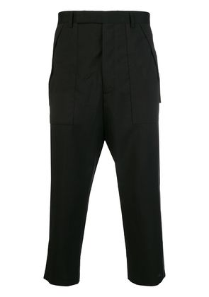 Rick Owens cargo cropped trousers - Black