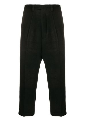 Rick Owens Astaires cropped check pants - Black