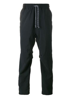 White Mountaineering drop crotch track pants - Blue