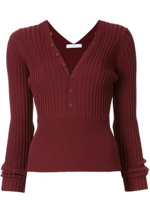 Astraet rib knit top - Red