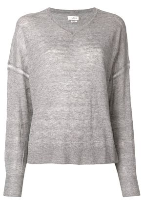 Isabel Marant Étoile long-sleeve fitted sweater - Grey