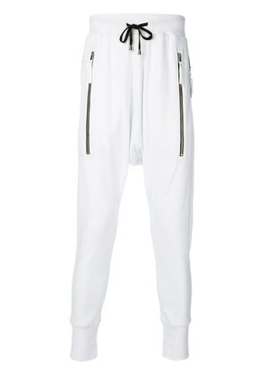 Unconditional zip pocket track pants - White