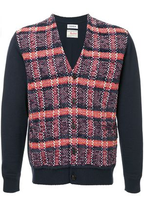 COOHEM checked tweed cardigan - Red