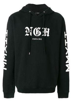 Not Guilty Homme printed hoodie - Black
