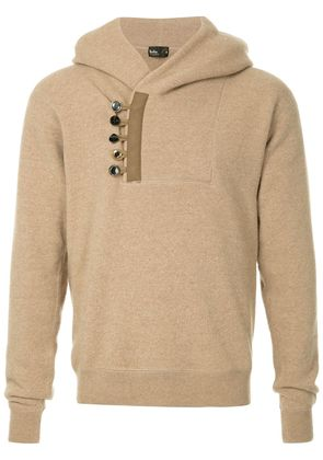 Kolor button embellished hoodie - Nude & Neutrals