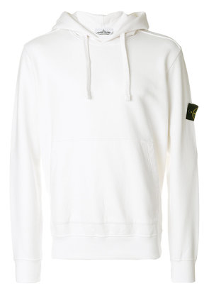 Stone Island straight fit hoodie - White