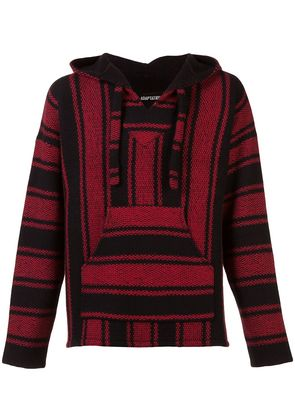 Adaptation striped hooded sweater - Black