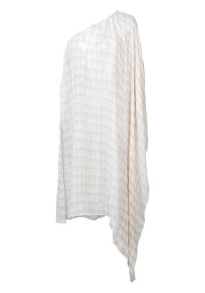 Thomas Wylde one-shoulder tunic - Nude & Neutrals