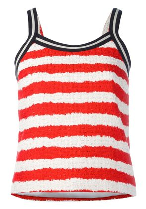 MSGM striped top - Red
