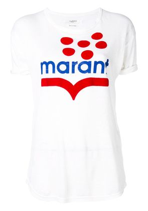 Isabel Marant Étoile logo colour-block T-shirt - White
