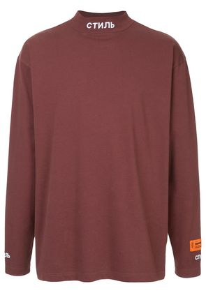 Heron Preston turtle neck T-shirt - Pink & Purple