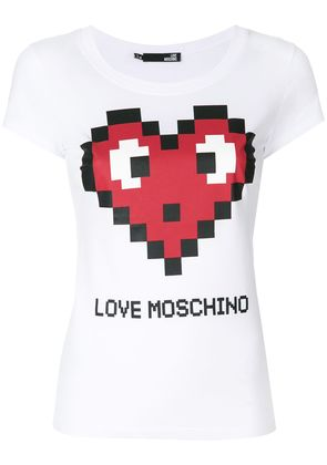Love Moschino logo print T-shirt - White
