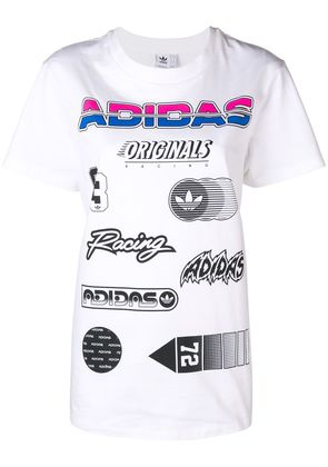Adidas graphic tee - White